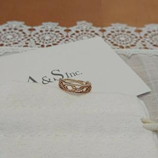 アガット(agete)のアガット 透かしリング 1号 K10 ダイヤモンド(リング(指輪))