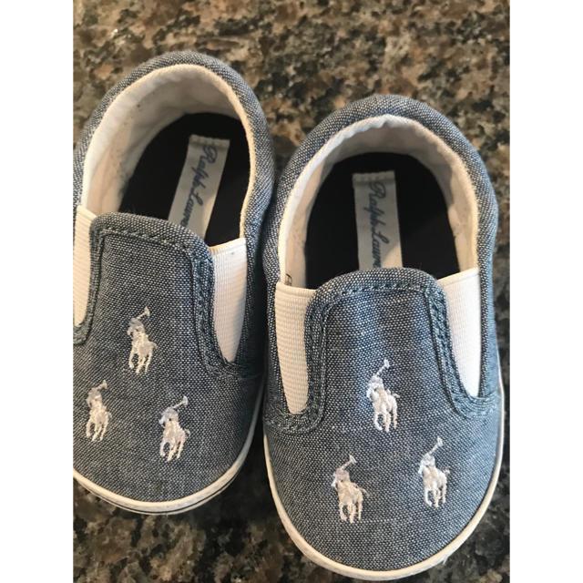 POLO RALPH LAUREN(ポロラルフローレン)のラルフローレン ベビー ファーストシューズ キッズ/ベビー/マタニティのベビー靴/シューズ(~14cm)(スリッポン)の商品写真