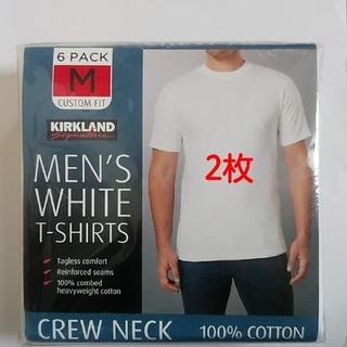 コストコ(コストコ)のコストコ カークランド メンズ ホワイトTシャツ Mサイズ 2枚(Tシャツ/カットソー(半袖/袖なし))