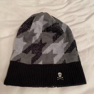 マークアンドロナ(MARK&LONA)のたか様専用、MARK&LONA💀大人気スカル柄🖤ニット帽グレー✖️黒(ウエア)