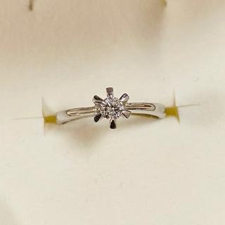 ジュエリーツツミ(JEWELRY TSUTSUMI)のpt900 0.1ct 一粒ダイヤモンド ピンキーリング(リング(指輪))