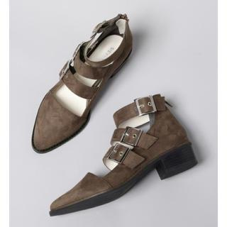 ジーナシス(JEANASIS)のお値下げ可〇  JEANASIS  3ベルトバックルブーツ(ブーツ)