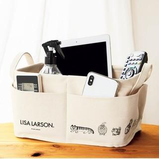 リサラーソン(Lisa Larson)の☆ 新品未使用 ☆LISA LARSON 外ポケット付き収納ボックス(小物入れ)