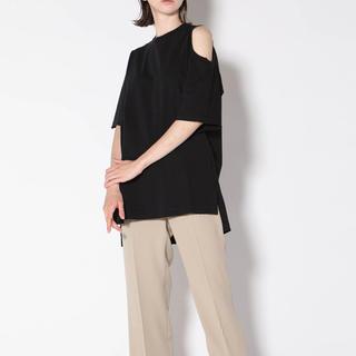 エンフォルド(ENFOLD)のessen. ダメージ デストロイ 大人気 即完売 オーバーTシャツ ブラック(Tシャツ(半袖/袖なし))