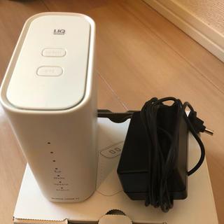 エヌイーシー(NEC)の美品 UQ WiMAX HOME02(ネットワーク制限○)(PC周辺機器)