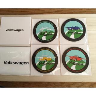 フォルクスワーゲン(Volkswagen)の新品 フォルクスワーゲン☆ラバーコースター(ノベルティグッズ)