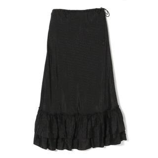 デミルクスビームス(Demi-Luxe BEAMS)のラス1 ne Quittez pas ヌキテパ スカート ブラック(ロングスカート)