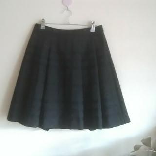 バーバリー(BURBERRY)のBURBERRY♡38スカートウール混黒(ひざ丈スカート)