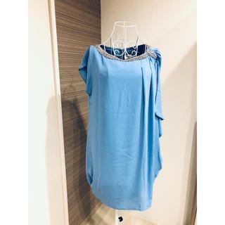 GRACE CONTINENTAL - グレースコンチネンタル ライトブルー 水色 ドレス 結婚式 ワンピース S M