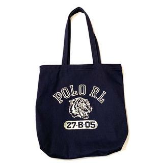 ポロラルフローレン(POLO RALPH LAUREN)の新品 ポロ ラルフローレン タイガープリント コットン トートバッグ ネイビー(トートバッグ)