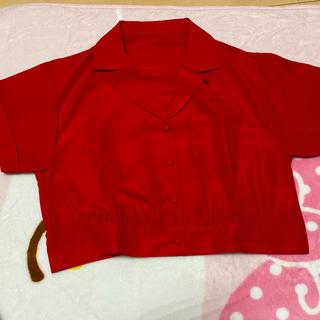 スピンズ(SPINNS)のショート丈開襟シャツ(シャツ/ブラウス(半袖/袖なし))