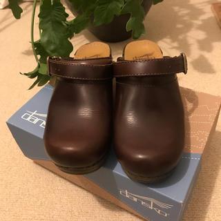 ダンスコ(dansko)の■ダンスコ DANSKO *36/23cm *イングリッド2way茶ブラウン革靴(ローファー/革靴)