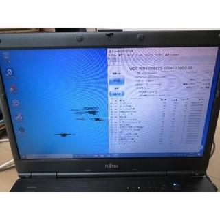 フジツウ(富士通)のFujitsu DESKTOP-I4L8JSG 画面傷あり バッテリー無し(ノートPC)