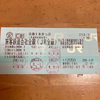 【けいたんさん】青春18きっぷ 1回分(鉄道乗車券)