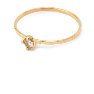 アッシュペーフランス(H.P.FRANCE)のhirondelle イロンデール  ブラウンダイヤリング 11号 K18 指輪(リング(指輪))