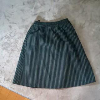 グリーンパークス(green parks)のグリーンパークス ストライプスカート(ひざ丈スカート)