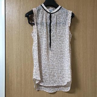 エイチアンドエム(H&M)のh&m リボンブラウス 36(シャツ/ブラウス(半袖/袖なし))