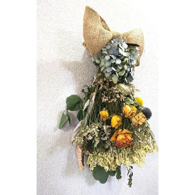 『SOLD』ʚïɞ*♬♥夏の終わりに…♥ドライフラワー❁スワッグ ʚïɞ*♬ ハンドメイドのフラワー/ガーデン(ドライフラワー)の商品写真