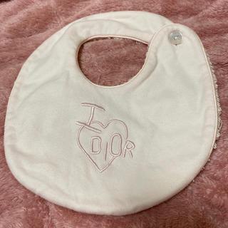 ベビーディオール(baby Dior)のDior ベビースタイ baby Dior ピンク(ベビースタイ/よだれかけ)