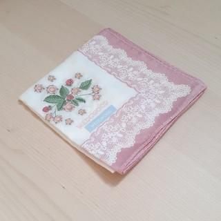 WEDGWOOD - WEDGWOOD 花柄刺繍ハンカチ