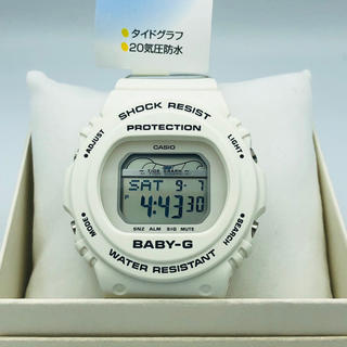 ベビージー(Baby-G)のカシオベビージーレディースウォッチ白電池で動く(腕時計)