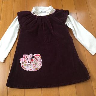 ボンポワン(Bonpoint)の美品 フランスの子供服 ベロア ワンピース 70 80 85(ワンピース)