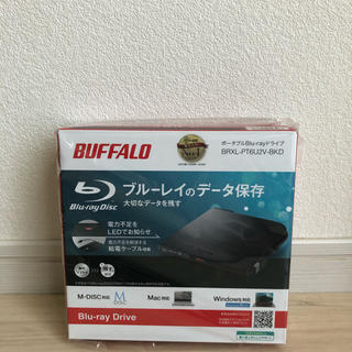 バッファロー(Buffalo)の美品◆バッファロー 外付け ブルーレイドライブ BRXL-PT6U2V-BKD(ブルーレイプレイヤー)