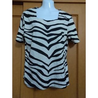 ゼブラ柄Tシャツ トップス 大きいサイズ(Tシャツ(半袖/袖なし))
