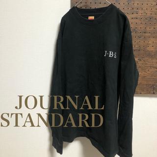 ジャーナルスタンダード(JOURNAL STANDARD)の古着 黒スウェットロングTシャツ 厚手 バック    (Tシャツ/カットソー(七分/長袖))