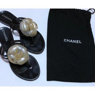 シャネル(CHANEL)のシャネル ビーチサンダル カメリア 36(ビーチサンダル)