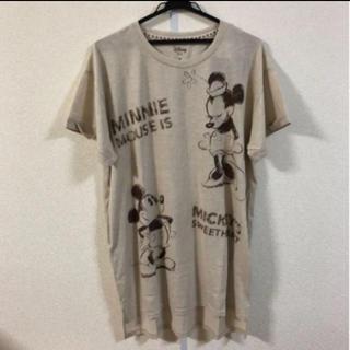 ディズニー(Disney)のディズニー ロングTシャツ ミッキー ミニー ゆるT 新品タグ付き(チュニック)
