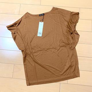 スコットクラブ(SCOT CLUB)のdeux milleans ans袖フリルTシャツ  トップス 新品(Tシャツ(半袖/袖なし))