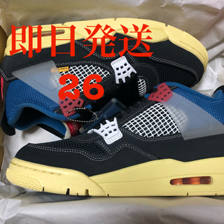 ナイキ(NIKE)のNIKE UNION Air Jordan 4 Off Noir 26cm(スニーカー)