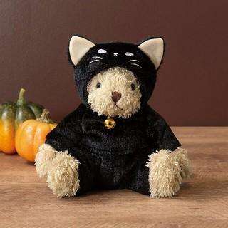 タリーズコーヒー(TULLY'S COFFEE)のタリーズ ハロウィン ベアフル 黒猫 ぬいぐるみ(ぬいぐるみ)