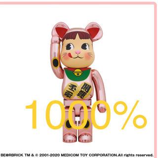 メディコムトイ(MEDICOM TOY)のBE@RBRICK 招き猫 ペコちゃん 桃金メッキ 1000% ベアブリック (その他)