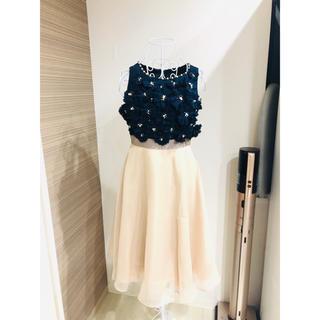 GRACE CONTINENTAL - ドレス 結婚式 ワンピース フラワー ビジュー 可愛い グレースコンチネンタル