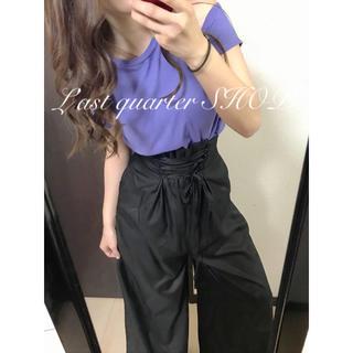 エモダ(EMODA)のスリットTシャツ×コルセットワイドP♡大人モードコーデ マウジー系 ムルーア系(セット/コーデ)