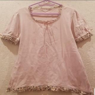 ピンクハウス(PINK HOUSE)のピンクハウス 花柄フリルカットソー(カットソー(半袖/袖なし))