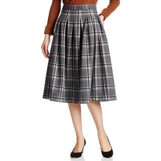 マウジー(moussy)のmoussy マウジー チェックミドルスカート (ひざ丈スカート)