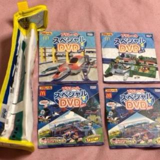 タカラトミー(Takara Tomy)のプラレール ペットボトルホルダーと、DVD4枚(アニメ)