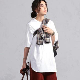 ビームス(BEAMS)のビームス ライツ/ ラウンドヘム ロングTシャツ(Tシャツ(半袖/袖なし))