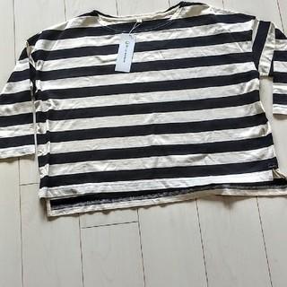 ベルメゾン(ベルメゾン)の新品タグつきベルメゾンボーダー綿100%Tシャツ(シャツ/ブラウス(長袖/七分))