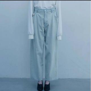 サンシー(SUNSEA)のstein EX Wide Hooked Denim Jeans サイズS(デニム/ジーンズ)