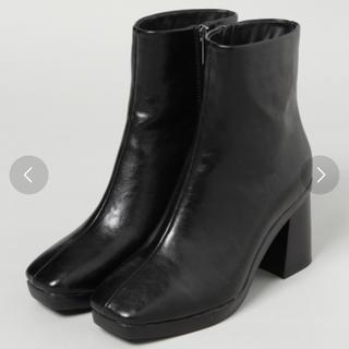 ジーナシス(JEANASIS)のJEANASIS スクエアトゥヒールブーツ Lサイズ(24〜24.5cm)(ブーツ)