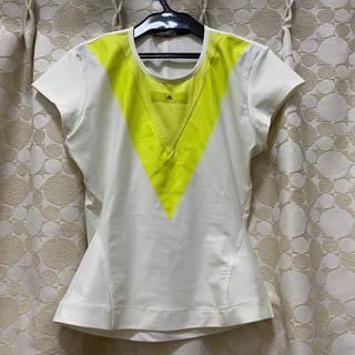 アディダスバイステラマッカートニー(adidas by Stella McCartney)の未使用 アディダス バイ ステラマッカートニー テニスシャツ Lサイズ ホワイト(ウェア)
