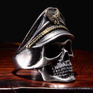 ドクロ 船長 リング 指輪 アクセサリー(リング(指輪))