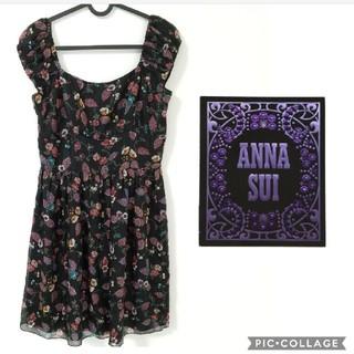 アナスイ(ANNA SUI)の素敵なフラワーワンピース(ひざ丈ワンピース)