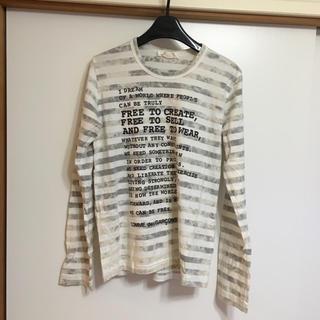 コムデギャルソン(COMME des GARCONS)のCOMMEdesGARCONS メッセージ長袖Tシャツ (Tシャツ(長袖/七分))