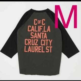 ロデオクラウンズワイドボウル(RODEO CROWNS WIDE BOWL)のロデオクラウンズ LAUREL STラグランルーズトップス ブラック M(Tシャツ/カットソー(七分/長袖))