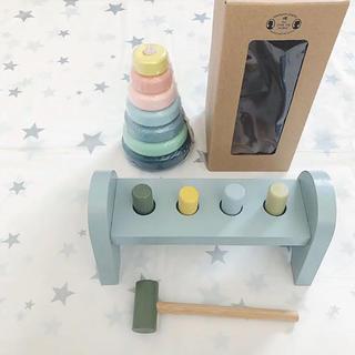 イケア(IKEA)の新品 SOSTRENE GRENES ハンマートイ スタッキングトイ(知育玩具)